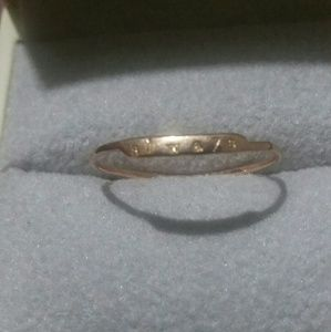 "Sz 6 ~ Catbird ""always"" ring in 14k rose gold"